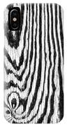 Zebras In Wood IPhone Case