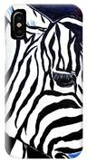 Zebras On A Blue Night IPhone Case