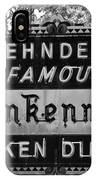Zehnder's Black And White IPhone Case