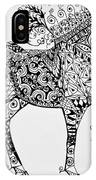 Zentangle Circus Horse IPhone Case