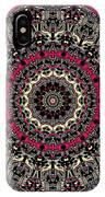 Zentangle No. 7 Kaleidoscope IPhone Case