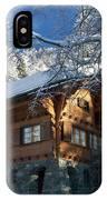 Zermatt Chalet IPhone Case