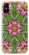Zinging Zinnia Kaleidoscope IPhone Case