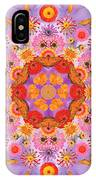 Zinna Flower Mandala IPhone Case