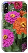 Zinnia Garden IPhone Case