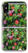 Zinnias 4 Panel Vertical Composite IPhone Case