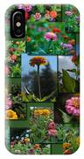 Zinnias Collage Rectangle IPhone Case