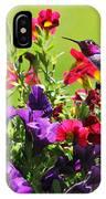 Zipping Through The Garden IPhone Case