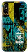 3 Caged Birds Grunge IPhone Case