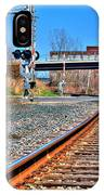 0001 Train Tracks IPhone Case