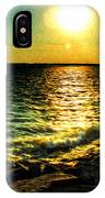 0001 Windy Waves Sunset Rays IPhone Case