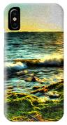 00015 Windy Waves Sunset Rays IPhone Case