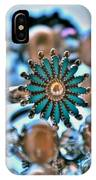 0002 Turquoise And Pearls IPhone Case