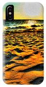 0008 Windy Waves Sunset Rays IPhone Case