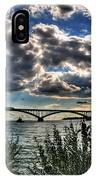 003 Peace Bridge Series II Beautiful Skies IPhone Case