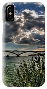 004 Peace Bridge Series II Beautiful Skies IPhone Case