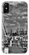 005bw On A Summers Day  Erie Basin Marina Summer Series IPhone Case