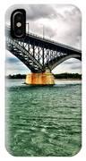007 Stormy Skies Peace Bridge Series IPhone Case