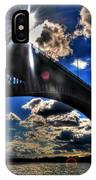 010  Peace Bridge Series II Beautiful Skies IPhone Case