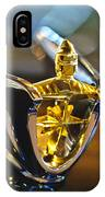 1956 Lincoln Premiere Convertible Hood Ornament IPhone Case