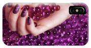 Abstract Woman Hand With Purple Nail Polish IPhone Case