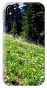 Alpine Meadow Vii At Mount Rainier IPhone Case