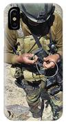 An Afghan National Army Soldier IPhone Case