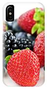 Assorted Fresh Berries IPhone Case