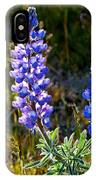 Back Lit Lupine IPhone Case