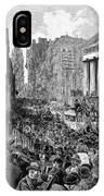 Bank Panic, 1884 IPhone Case