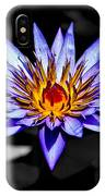Black Pond Lilly IPhone Case