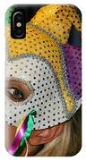 Blond Woman With Mask IPhone Case