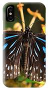Blue Glassy Tiger Butterfly IPhone Case