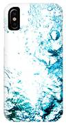 Blue White Water Bubbles In A Pool  IPhone Case