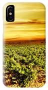 Bright Sunset At Vineyard IPhone Case