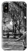 Bubble Boy Of Central Park In Black And White IPhone Case