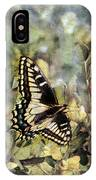 Butterfly On Yellow Flowers IPhone Case