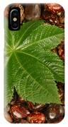 Castor Bean Leaf And Seeds IPhone Case