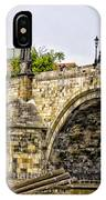 Charles Bridge And Prague Castle IPhone Case