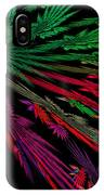 Computer Generated Red Green Abstract Fractal Flame Modern Art IPhone Case
