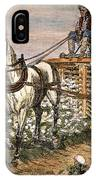 Cotton Harvester, 1886 IPhone Case
