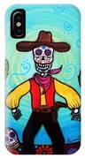 Cowboy Dia De Los Muertos IPhone Case