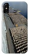 Crew Aboard The Amphibious Assault Ship IPhone Case