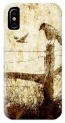 Crows And The Corner Fence IPhone Case