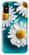 Daisies Floating In Water IPhone Case