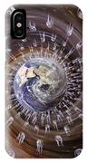 Digitally Enhanced Image Of The Earth IPhone Case