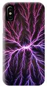 Electrical Discharge Lichtenberg Figure IPhone Case