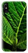 Emerging Hydrangea Leaf IPhone Case