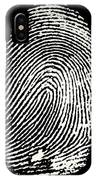 Enlarged Fingerprint IPhone Case