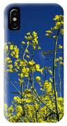 Field Of Rape In Bloom. Auvergne. France. Europe IPhone Case